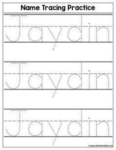 Custom Name Tracing Worksheet - Preview | Create Custom Printables & Worksheets Name Tracing Templates, Printable Name Tracing, Abc Tracing, Alphabet Tracing Worksheets, Tracing Letters, Preschool Worksheets, Tracing Names, Number Tracing, Homeschool Kindergarten