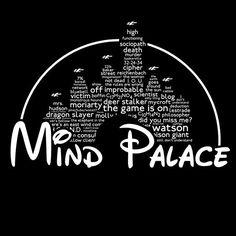 Mind Palace white text  A Sherlock / Disney mash up by jvzdesigns, £11.85 #educatinggeeksfind #sherlock