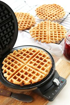 Vegan Gluten Free Waffles! One bowl, 7 ingredients, perfectly crisp and healthy!