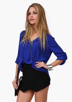 M XXXXL Envío Gratis 2014 resorte y verano nueva Europa estilo de las mujeres de la gasa de la camisa con cuello en V con mangas larga blusas y camisas 4XL-inBlouses y camisas de Ropa y accesorios en Aliexpress.com | Grupo Alibaba