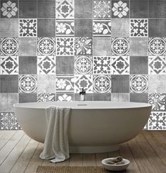Tiles Decals - Luxury Tiles Stickers - Tiles for Kitchen Backsplash or Bathroom - PACK OF 14 - SKU:LTAATiles