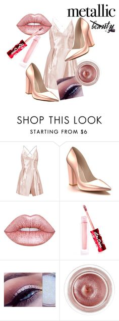 """""""Pink"""" by azazelacain on Polyvore featuring beauty, Topshop, Shoes of Prey, Lime Crime, Tom Ford, Pink, pinklips and limecrime"""