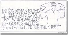 Ralph Beyer (1921-2008) pencil  #Goodshepherd