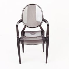 1/6 Scale Dollhouse Furniture Armchair Chair for Barbie Dolls Transparent Black #Unbranded