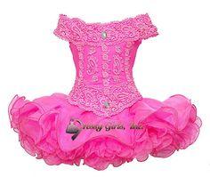 Hot Pink Off Shoulder Kids Baby Short Cupcakes Toddler Girls Pageant Dress 0-5T #Handmade #DressyEverydayHolidayPageantWedding