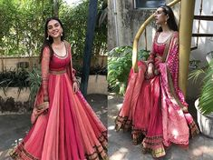 Check out all the desi looks worn by Aditi Rao Hydari for the best designers of B town.From wedding guest look to reception night all in a one post. Indian Gowns Dresses, Indian Fashion Dresses, Indian Designer Outfits, Indian Designers, Flapper Dresses, Designer Dresses, Indian Wedding Outfits, Indian Outfits, Mehendi Outfits