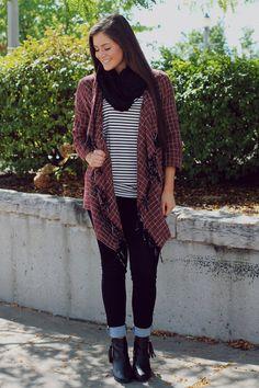 Rust Drape Open Front Cadri – UOIOnline.com: Women's Clothing Boutique