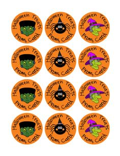 Frankenstein Tags Halloween Spider Stickers Goodie Bag Stickers Halloween Witches Halloween Cupcake Toppers Halloween Favors (252 (5.00 USD) by MoonLitPrintables