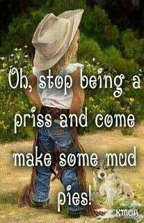 This was soooo me when I was little! Never remember a time when it rained and I wasn't outside playing in it and making mud pies!!!