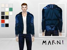 Pane Synthetic Jacket by McLayneSims at TSR via Sims 4 Updates