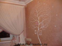 Elegant custom tree mural at a private residence.  #treemural #custommural #treewallmural