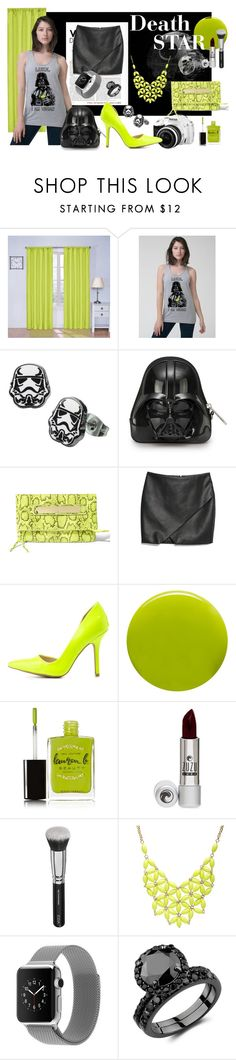 """death star set"" by quinoa-apparel ❤ liked on Polyvore featuring Eclipse, Pentax, Steve Madden, MANGO, Charlotte Russe, Lauren B. Beauty, Alexa Starr, John Richmond, women's clothing and women"