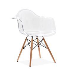 Charles Eames Transparent DAW Chair at cultfurniture.com