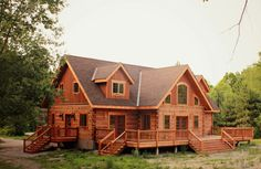 Musings of a middle aged man in middle America. — loghomelove: Thanks to Porche Chalet, Log Homes, Architecture, Future House, House Styles, Wood, Retirement, Middle, Houses