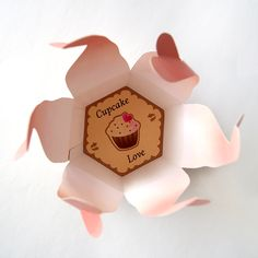 Cupecake Love cardboard package design for gift on Behance - Pink Pastel Kawaii