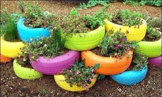 Awesome idea using old tyre's