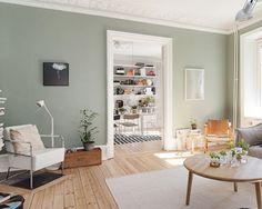 kleur-in-je-interieur---donkergroen-muur-woonkamer-scandinavische-stijl