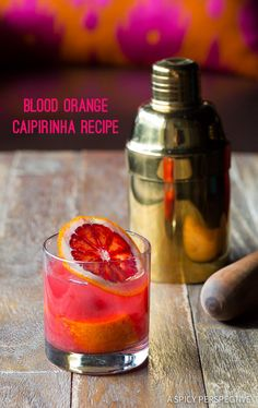 The Blood Orange Caipirinha Recipe on ASpicyPerspective.com #cocktails