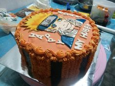 Naruto birthday cake...sorry my table so mess