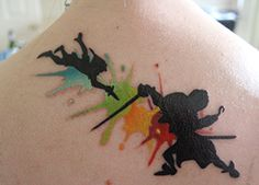 Colorful Peter Pan tattoo