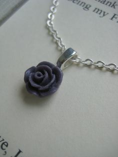 Eggplant purple Flower girl gifts small sized rose by buysomelove, $12.00 - but a different color