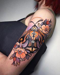 𓂀 Neotrad Tattoo Europe 𓂀 ( Badass Tattoos, Body Art Tattoos, Cool Tattoos, Tatoos, Face Tattoos, Sleeve Tattoos, Bug Tattoo, Moth Tattoo, Tattoo Ink