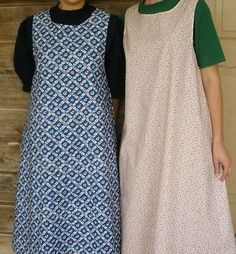 Womans Pinafore Ladies Apron Historical Pioneer prairie new White Floral, in the calico of your choice via eBay.