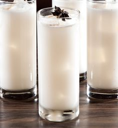 1.5 oz Don Julio Blanco Tequila 1.5 oz sweet rice milk 1.0 oz almond milk 0.25 oz cinnamon syrup 0.25 oz vanilla syrup 1 star anise  Garnish:1 star anise, cinnamon Bar Tools: Jiggeror measuring cup, Cobbler Shaker Glass:Collins Each box includes all ingredients including garnish. Bar tools and glassware not included but can be ordered separately. All orders for alcohol are fulfilled by In Fine Spirits Ltd.