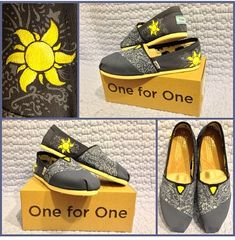 Hand Painted Custom Disney's Tangled Inspired Shoes on Etsy, $60.00
