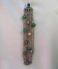 Antique silver and stone bracelette