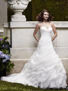 Casablanca Bridal 2064 Fit and Flare Wedding Dress