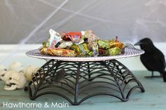 Halloween Dollar Store Cake Stand