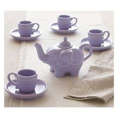 Elephant Tea Set ($59) ❤ liked on Polyvore featuring photos