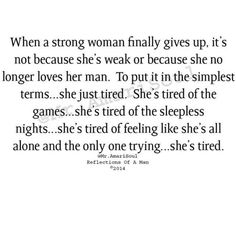 Truth of an emotionally drained woman