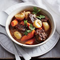 Classic Slow Cooker Beef Stew Recipe by Cooking Light Crock Pot Slow Cooker, Crock Pot Cooking, Slow Cooker Recipes, Crockpot Recipes, Soup Recipes, Cooking Recipes, Healthy Recipes, Cooking Rice, Handmade Soaps