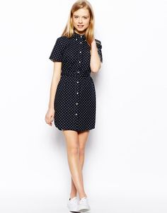Fred Perry | Fred Perry Spot Shirt Dress at ASOS