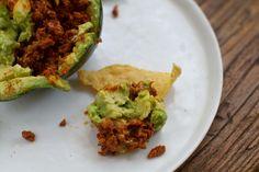 Guac-a-Taco: Vegan Taco-Stuffed Avocado!