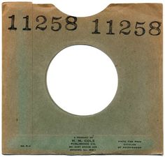 "Numbered 7"" record sleeve from M.M.Cole Publishing"