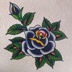 Old Tattoos, Flower Tattoos, Tattoo Sketches, Tattoo Drawings, Traditional Tattoo Filler, Desenhos Old School, Old School Rose, Old School Tattoo Designs, Kawaii Tattoo