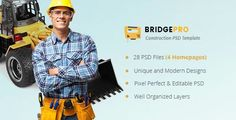 BridgePro  Construction & Building PSD Template by websroad BridgePro is a PSD Template created for construction companies, building firms, plumbing, heating, painting, tiling, refurbishment