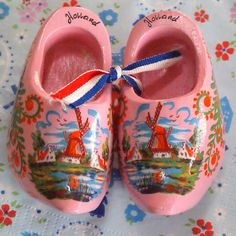 pink wooden shoes