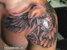 eagle tattoo, this is something like i wanna get on my back (only not as big) to represent my Dad.