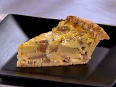 Ham and Cheese Quiche from FoodNetwork.com- I'm gonna make this with the turkey bacon I have left over and whatever cheese is in there