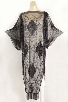 Beaded tulle overdress, c.1922, from the Vintage Textile archives.