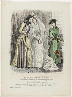 A. Portier | Le Moniteur de la Mode, 1889, Nr. 2532c, No. 19 : Toilettes de…