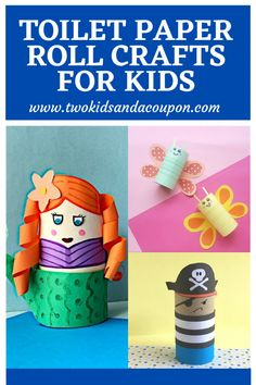 If you are looking for some fun recycled creations to make with your children, here are some fun and easy toilet paper roll crafts for kids to make.