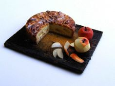 Apple cake - Miniature in 1:12 by Erzsébet Bodzás, IGMA Artisan