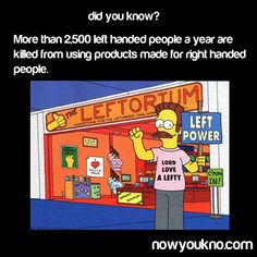 No character on The Simpsons serves as a better foil to Homer than Ned Flanders. The Simpson family's long-time next-door neighbor may be a. Ned Flanders, Homer Simpson, Left Handed People Facts, Left Handed Day, Left Handed Problems, Happy Left Handers Day, Left Hand Man, International Left Handers Day, Ideas