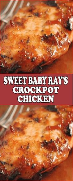 Sweet Baby Ray's Crockpot Chicken - Crock-Pot Recipes - Sweet Baby Ray's Crockpot Chicken, You are in the right pla - Healthy Crockpot Recipes, Easy Chicken Recipes, Cooking Recipes, Crockpot Chicken Healthy, Drink Recipes, Dinner Recipes, Crockpot Chicken Casserole, Crockpot Bbq Chicken, Boneless Chicken Breast Crockpot Recipe