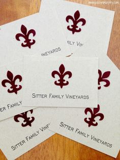 Unique and beautiful vineyards business cards templates, designed and created for Sister Family Vineyards by Jaco'lyn Murphy